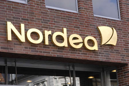 changed: DENMARK  ROSKILDE . Nordea has changed from blue to golden colour 4 October 2010