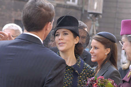 prince of denmark: DENMARK  COPENHAGEN .Danish royal family H.M.the Queen Margrethe II ,her husband prince Henrik of Denmark,Cornw prince frederik and Crown princess Mary ,Prince joachim and princess Marie and queen sister princess Benedikte arrives at opening of danish po