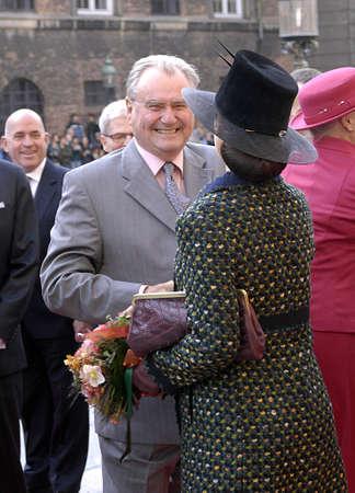 royal family: DENMARK  COPENHAGEN .Danish royal family H.M.the Queen Margrethe II ,her husband prince Henrik of Denmark,Cornw prince frederik and Crown princess Mary ,Prince joachim and princess Marie and queen sister princess Benedikte arrives at opening of danish po