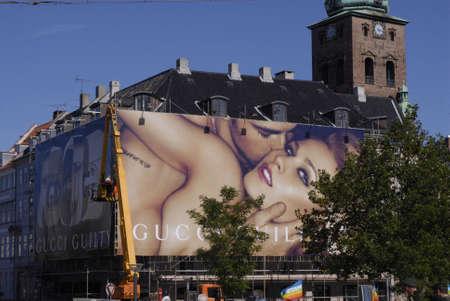 polictis: DENMARK  COPENHAGEN . Gucci Guilty billboards at heart of city Sept.5, 2010
