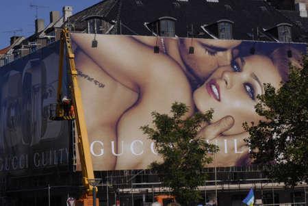 polictis: DENMARK  COPENHAGEN . Gucci Guilty billboards at heart of city Sept.5, 2010    Editorial