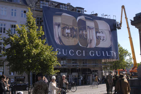 gucci: DENMARK  COPENHAGEN . Gucci Guilty billboards at heart of city Sept.5, 2010     Editorial