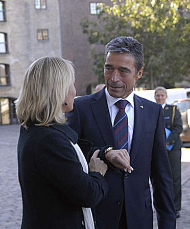 foreign secretary: DENMARK  COPENHAGEN .  Anders Fogh Rasmussen Natos Secretary Geeneral on his first official visit to his native lannd Denmark,former prime minister of Denmark visits Danish minister for foreign affairs MS Lene Espersen today tuesday 31 August 2010      Editorial