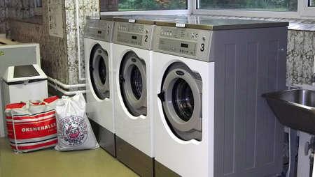 KASTRUPCOPENHAGENDENMARK _  Washing machines in Laundry room 8 October 2010