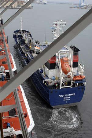 genoa: ITALY  GENOA . China shipping line and other line ships duck at genoa ship yard or genoa port 11 October 2010