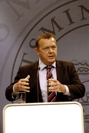 he said: DENMARK  COPENHAGEN Lars Lokke Rasmussen (Lars L�kke Rasmussen)hold his first press conference after autumn school vacations, he said Iraq war aligation my Government take seriously all war rules should be follow by danish soldiers i want to report from