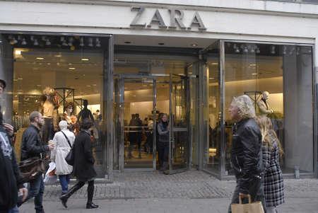 DENMARK / COPENHAGEN . Zara spanish chain store  1 Nov. 2010