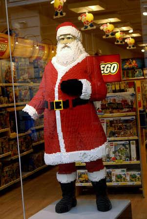 DENMARK  COPENHAGEN . Santa clous christmas snata model in logo bricks 12 Nov. 2010     Editorial