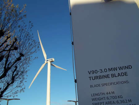 vestas: DENMARK  COPENHAGEN . Vestas turbine at Bella center 15 Nov. 2010    Editorial