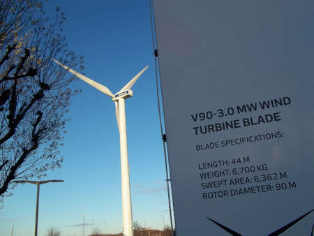 vestas: DENMARK  COPENHAGEN . Vestas turbine at Bella center 15 Nov. 2010