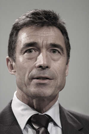pm: Anders Fogh Rasmussen danish prime minister and leader of danish liberal party holds his weekly press conference at mirror hall at Christianborg Palace,PM office,and gave his reaction about newly critic filmThe secreat war  opposition parties demond to