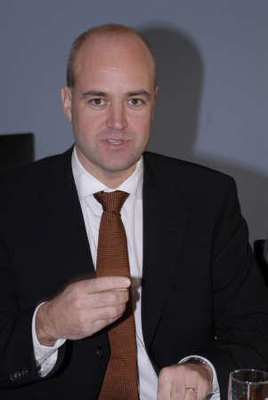 danish prime minister: Newly Elected Swedish Prime minister Fredrik Reinfeldt his first visit to Danish prime minister Anders Fogh Rasmussen at PM official residence Marienborg, Lyngby ,Copenhagen Denmark   Oct.18,2006