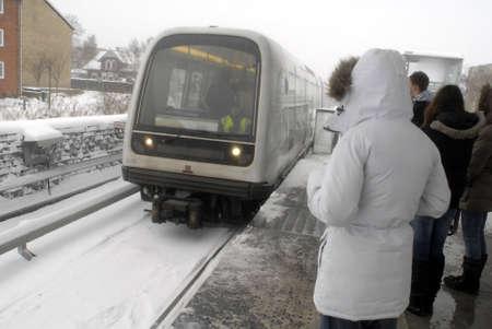 disruption: KASTRUPCOPENHAGENDENMARK _  Transportation disruption all public transportations beacuse of heavy snow falls in Denmark like rest europe 23 Dec. 2010          Editorial
