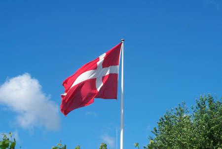 francis dean: COPENHAGEN  DENMARK -Dannebrog (Danish Flag Red & Whit cross)Kastrup Amaager Copenhagen Denmark August 1,2001