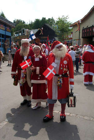 International Santas Conference in Bakken Klampenborg (Copenhagen)Denmark,Santas from Canada,Holland,Japan,Germany,Spain,ElSalvador,Venezuela,Sweden,Norway,UK,Greenland and Denmark