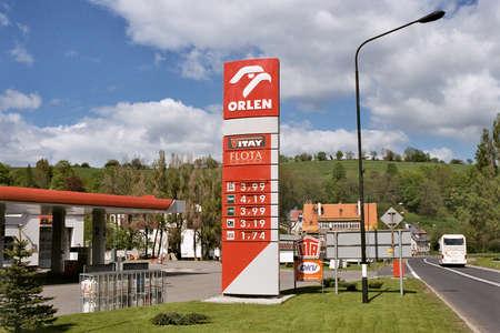 May 17,2004 Polancia Zdroj, Poland ,Polish Oren Gas stattion,high gas price in Poland