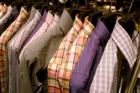 DENMARK  COPENHAGEN .Textile shirts at Tigeer of Sweden branch store in Illum mall 28 Dec. 2010