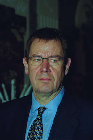 pm: Danish prime minister Poul Nyrup Rasmussen  PM office in Copenhagen Denmark November 25,1999 Editorial