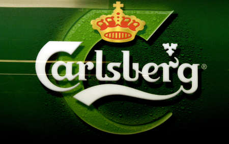 DENMARK  COPENHAGEN .Danish carlsberg beer logo 31 Dec. 2010     Editorial