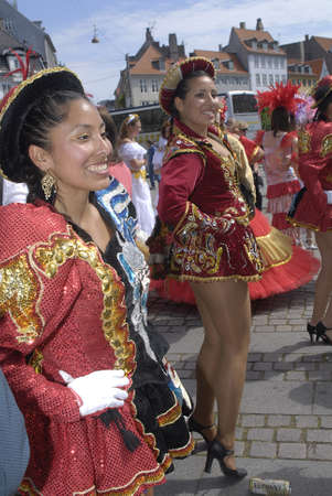 carnival festival: K�BENHAVNCOPENHAGENDANMARK DENMARK. Danish pregnant females participate in annual Danish Samba dance carnival festival, there are also other females and males pariticipating in smaba dance festival carnival in Copenhagen Denmark on 30 May 2009      Editorial