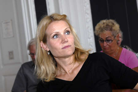 helle thorning schmidt: Social democrate party chairwoman Helle Thorning -Schmidt was key speaker at eldecouncil conference for better welfare for old people in denmarkconference held at  landstinget Christianborg Copenhagen Denmark August 19,2006