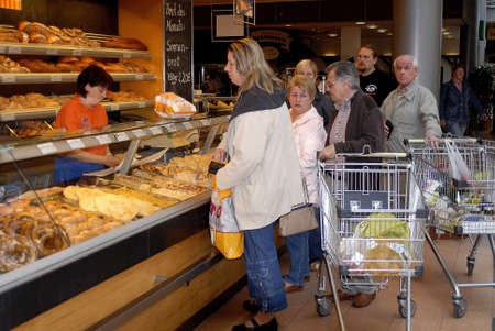 shoppers in Citti Market in Stralsund Germany May 31,2006      Stock Photo - 8567967