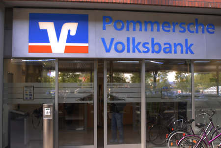 Pommerscne Volksbank in Stralsund Germany May 31,2006       Stock Photo - 8567891