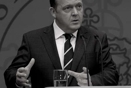 janu: DENMARK  COPENHAGEN .Danish prime minister Lars Lokke Rasmussen (Lars L�kke Rasmussen) hold his first weekly pressconference and high new polices about danish senior early retirement and his meeting with british prime minister David Cameron later in janu