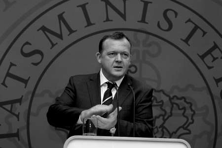 danish prime minister: DENMARK  COPENHAGEN .Danish prime minister Lars Lokke Rasmussen (Lars L�kke Rasmussen) hold his first weekly pressconference and high new polices about danish senior early retirement and his meeting with british prime minister David Cameron later in janu