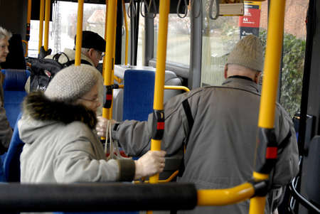 KASTRUPCOPENHAGENDENMARK _  Danish senior citizen are not allowed to travel from 7 am till 9.am with public bus sytem but rest of day there is no restructions on traveling by bus, but senior citizen start from age 65 years senior citizen have disocunt t