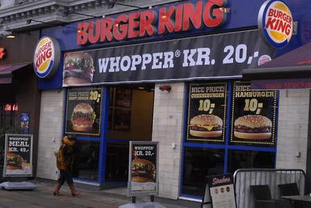 DENMARK / COPENHAGEN .Burger king fast food restaurant  25 Jan 2011     Stock Photo - 8677063