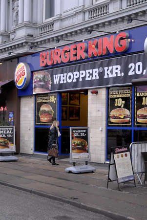 DENMARK / COPENHAGEN .Burger king fast food restaurant  25 Jan 2011     Stock Photo - 8677065