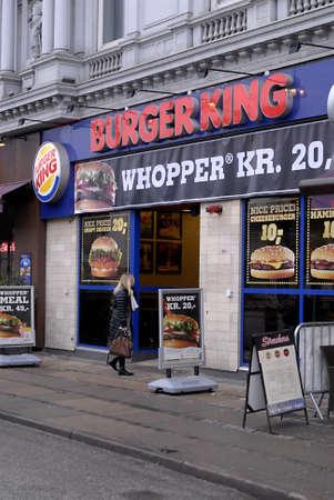 DENMARK / COPENHAGEN .Burger king fast food restaurant  25 Jan 2011     Stock Photo - 8677065