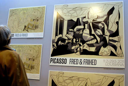 DENMARK  HUMLEBAEK . Pablo Picasso painting exhibtion Freedom and peace at Louisiana museum  from Feb 13 til 29 May 2011 13 Feb 2011