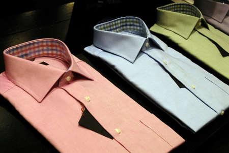 DENMARK / COPENHAGEN .Various  colour  shirts on sale in Illum department store 17 Feb. 2011