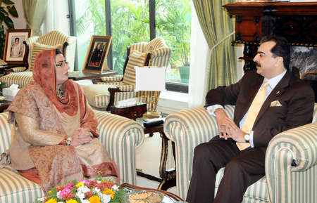 ISLAMABAD /PAKISTAN. Dr. Firdous Ashiq Awan, Federal Minister for Information and Broadcasting  called on Prime Minister Syed Yusuf Raza Gilani at PM House, Islamabad on February 19, 2011. 