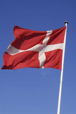 DENMARK  COPENHAGEN . red and white christian white cross on red called dannebrog (danish flag) 20 Feb. 2011