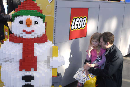 bella: DENMARK  COPENHAGEN . Thousands of families with chidlren at Lego world  Exhitbion at bella Center  at Bella Center 19 Feb. 2011