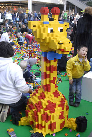 DENMARK  COPENHAGEN . Thousands of families with chidlren at Lego world  Exhitbion at bella Center  at Bella Center 19 Feb. 2011