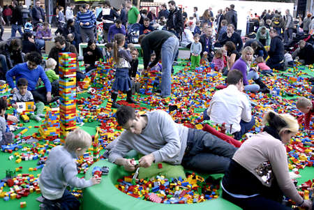 DENMARK / COPENHAGEN . Thousands of families with chidlren at Lego world  Exhitbion at bella Center  at Bella Center 19 Feb. 2011    Editoriali