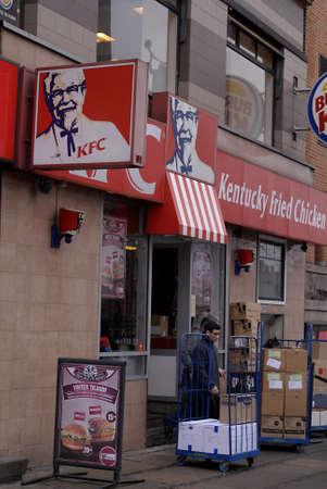 DENMARK  COPENHAGEN _  KFC kentucky Fried Chicken fast restaurant 28 Feb. 2011