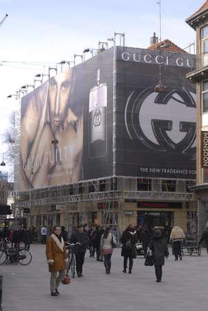 gucci: DENMARK  COPENHAGEN _  Gucci Quilty Billbard at stroget 7 March 2011