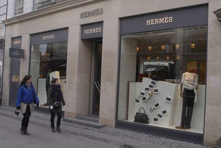 luxery: DENMARK  COPENHAGEN _ Hermes luxery store 7 Maarch 2011        Editorial