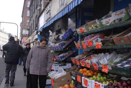DENMARK  COPENHAGEN _  Muslim immigrant  vegetabl eshop in Noerrobro area 23 March 2011