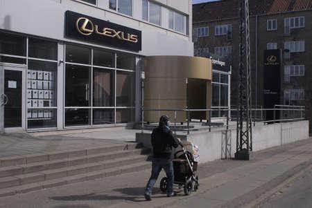 lexus auto: DENMARK  COPENHAGEN _ Lexus auto showroom 23 March 2011          Editorial