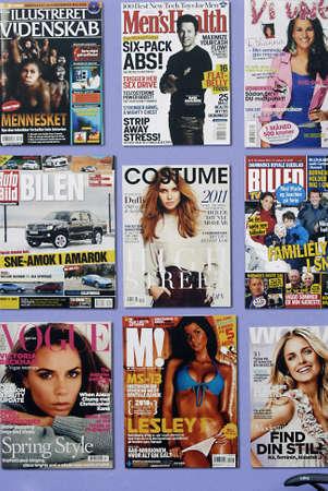 DENMARK  COPENHAGEN _ Internaitonal and   Danish magazine media covers 25 March 2011      Editorial