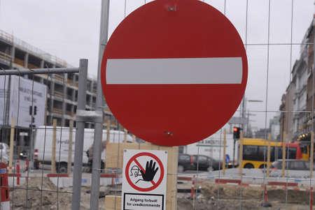squire: DENMARK  COPENHAGEN _Metrotran station  constructions site view at Copenhagen Cityhall squire