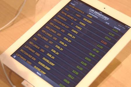 ipad2: DENMARK  COPENHAGEN _ Apple iPad2 display at Fona televsion and Radio 26 March 2011
