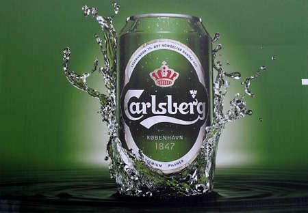 DENMARK / COPENHAGEN _   Carlsberg beer delivery orry 5 April 2011