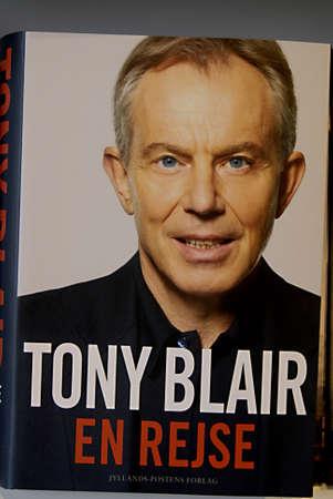 DENMARK  COPENHAGEN _Tony Blair ajourney has been translated into danish language Tony Blair En Rejse on sale at danish book shops  5 March 2011
